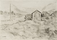 paesaggio toscano - il cinquale (tuscany landscape, cinquale) by ardengo soffici
