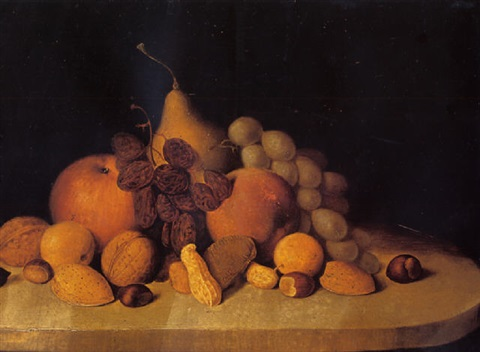 still life with fruits and nuts by robert scott duncanson