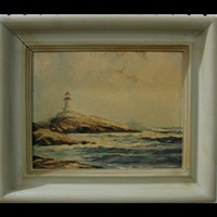 peggy's cove lighthouse - nova scotia by william edward de garthe