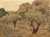 oliveraie en provence by alfred lesbros