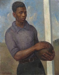 le jeune footbaleur by angel zárraga