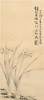 兰草 立轴 设色纸本 by chen peiqiu