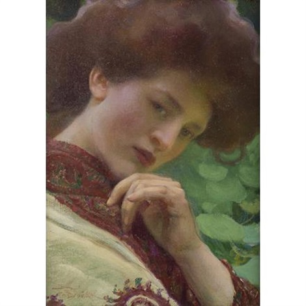 woman in shawl by frantisek dvorak