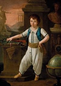 ritratto allegorico del granduca nicolaj pavlovic, futuro zar nicola i, all'età di sei anni by pietro labruzzi