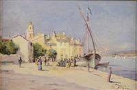 voiliers à quai, saint-tropez by raymond allègre