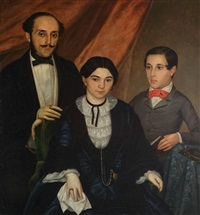 family portrait of a romanian boyar (from the post-revolution period) by niccolo livaditti