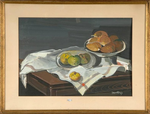 nature morte aux fruits by albert saverys