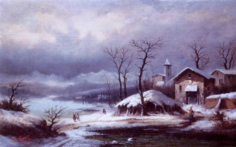 paysage hivernal by a gins