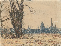 landscape in weimar by christian rohlfs