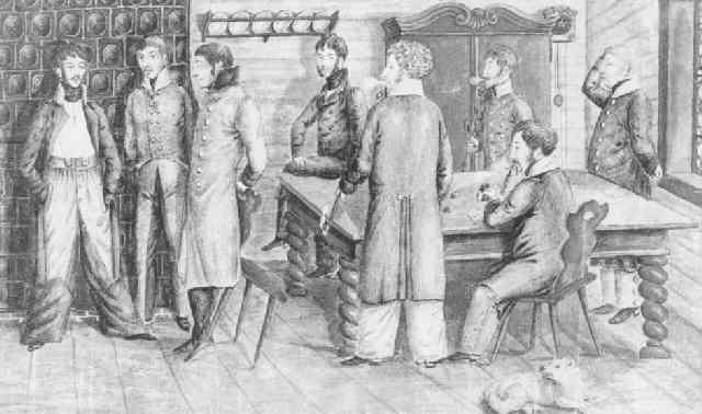 offiziere in der stube beim würfelspiel by anton wilhelm strack