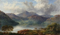 loch lubnaig near callender from the east by mcneil macleay