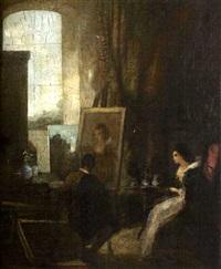 scène de d'intérieur by a. vollon