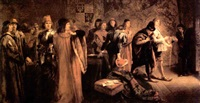members of a court by sir john gilbert