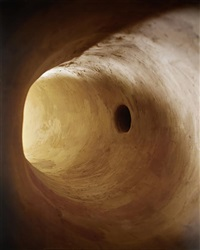 tunnel with dark hole by james casebere