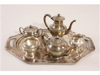 tea set (5 pieces) by frank smith