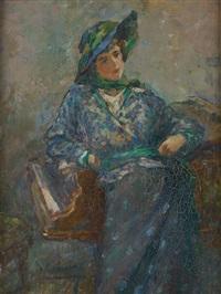 jeune femme au piano by georges (ferdinand) lemmers