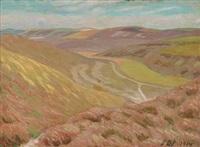 hilly landscape by sophus danneskjold-samsoe