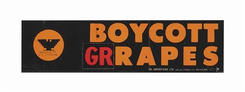 boycott grapes by ray johnson