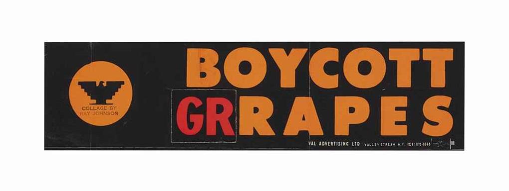 boycott grapes by ray johnson