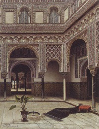 a moorish courtyard by tomas aceves