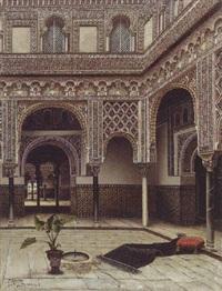 a moorish courtyard by tomas aceves
