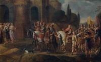 le triomphe de david by cornelis de wael