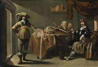 almsgiving in a notary's office by jacob duck