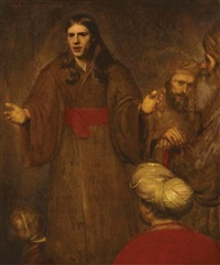 christ blessing the children by aert de gelder