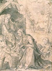 l'adoration des bergers by johann mathias kager