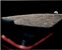 lever de terre depuis le hublot du module de commande (apollo 8, 24 dec 1968) by james mcdivitt