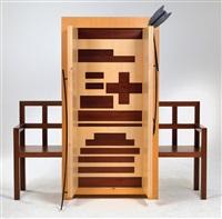 ficcanaso cabinet by mimmo paladino