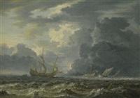 shipping in choppy seas by jan peeters the elder