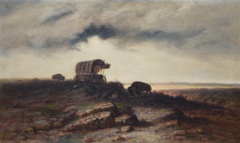 covered wagon by astley david middleton cooper