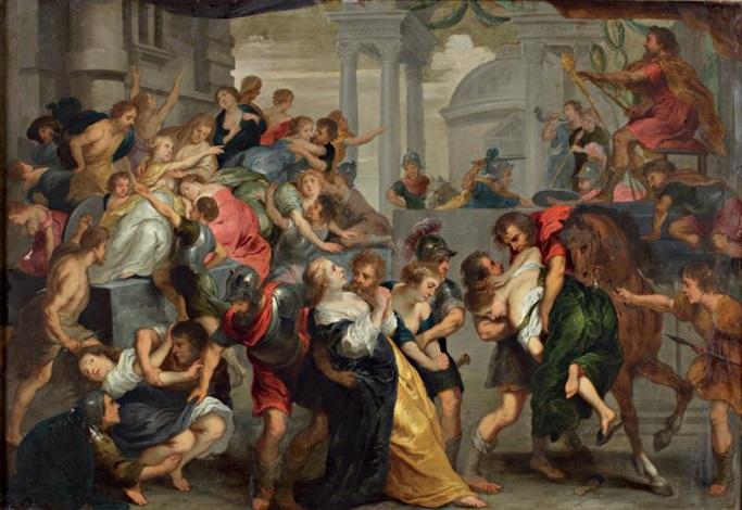 lenlèvement des sabines by theodor van thulden