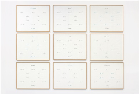 abbildung in 9 parts by marcel broodthaers