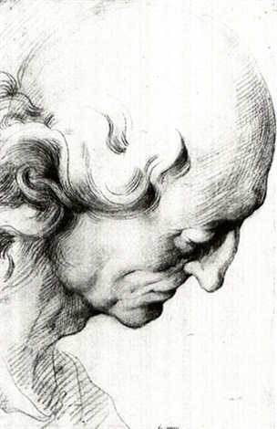 Study Of The Head Of An Old Man Looking Down By Camillo Procaccini On Artnet