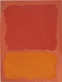 untitled (red and orange on salmon) by mark rothko