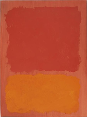 untitled red and orange on salmon by mark rothko