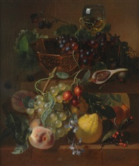 still-life with fruit by adriana van ravenswaay