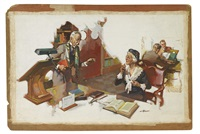 meeting in the library by august bleser jr.