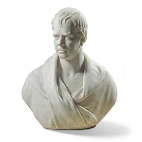 a bust of sir walter scott 1771 1832 by james fillans