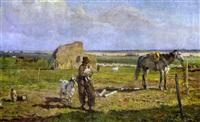 escena rural by alfredo vaccari