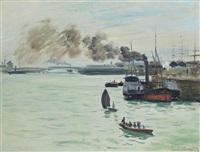 vue d'un port by claude monet