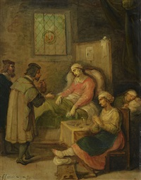 visiting a sick woman by frans francken the younger