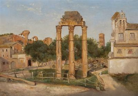 forum romanum by thomas fearnley