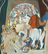 parade in the city by béla kádár