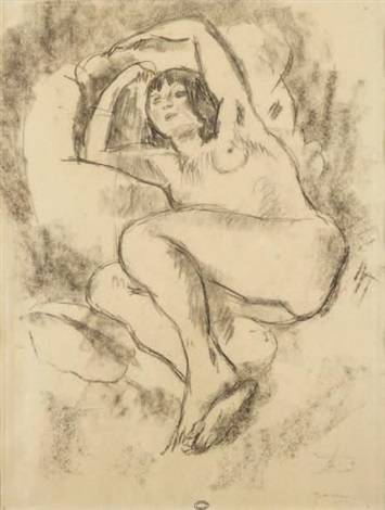 nu allongé by jules pascin
