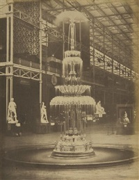 glass fountain, crystal palace by claude-marie ferrier