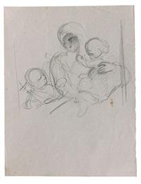 la vierge à l'enfant avec saint jean-baptiste by eugène delacroix