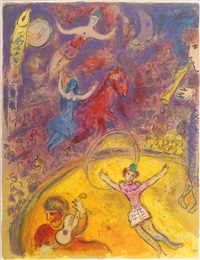 pl. 23, from le cirque by marc chagall